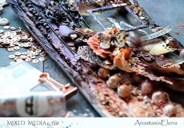 @nastyalena #alteredart #scrapbooking #mixedmedia