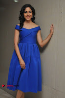Actress Ritu Varma Pos in Blue Short Dress at Keshava Telugu Movie Audio Launch .COM 0025.jpg
