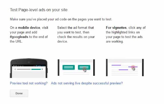 Preview Page Level Ads