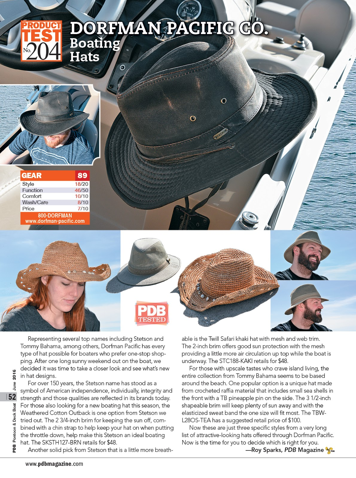 kenny chesney blue chair bay hats steel folding dorfman pacific in the news: featured pantoon & deck boat magazine