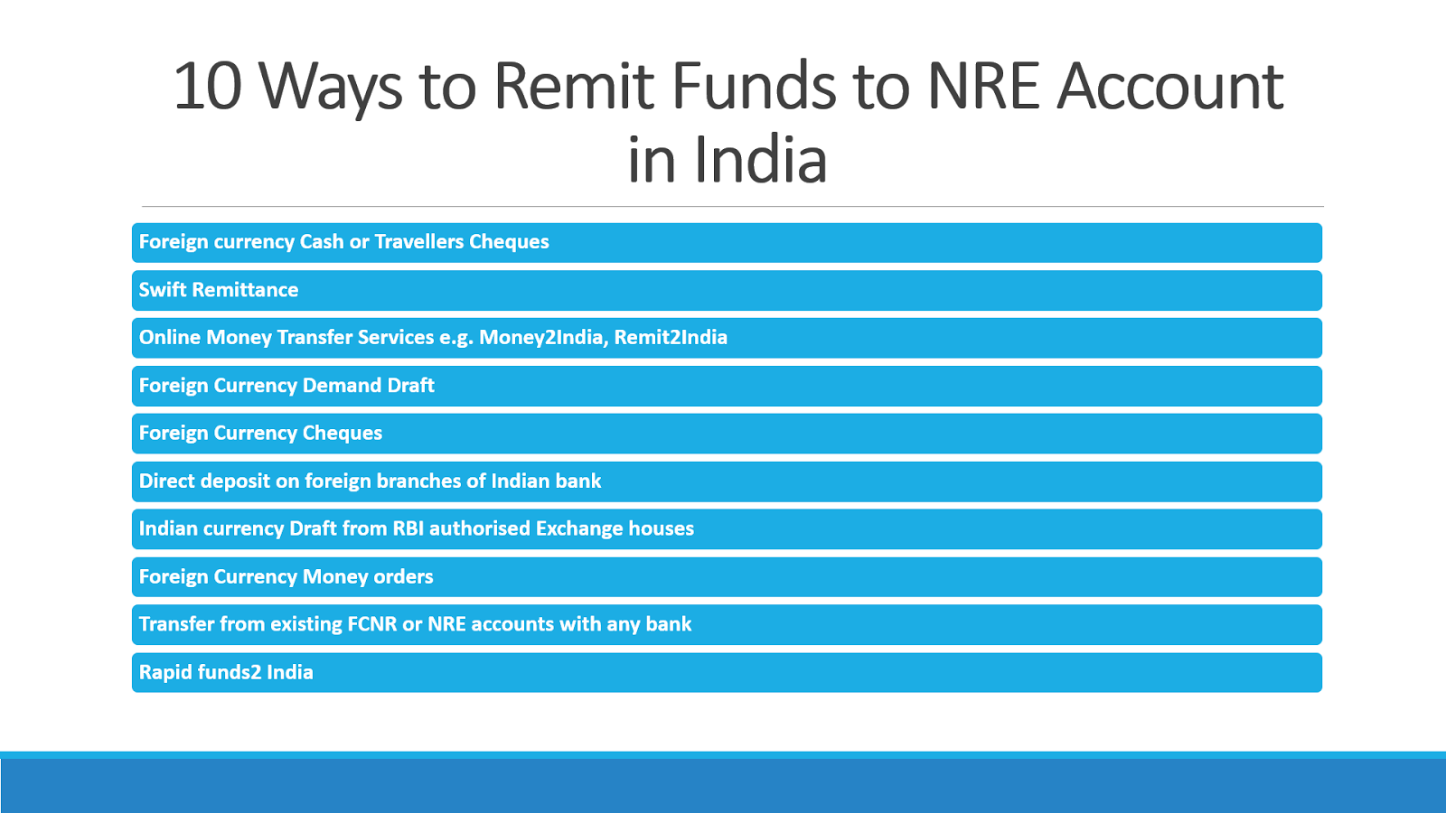 10 Ways to Send Money to NRE account in India | NRI Banking and ...
