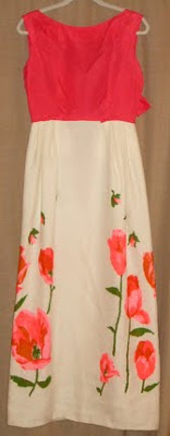In Fashion Memoriam: 1960s Pink Floral Maxi Dress by Gail Carriger