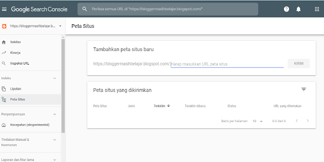 Cara submit sitemap blogspot ke google search console ridous.com