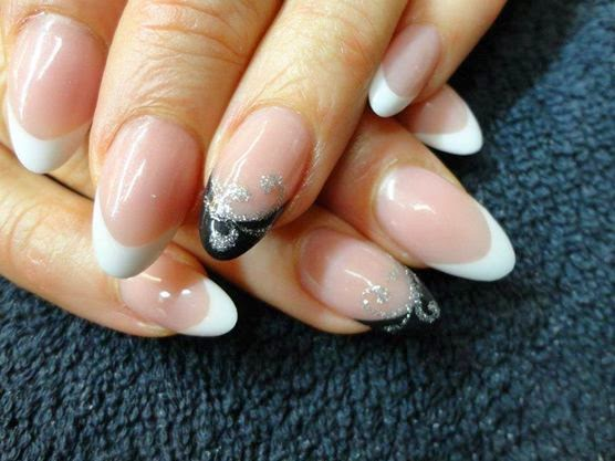 Acrylic Backfill Then Led Polish Design Nails Were