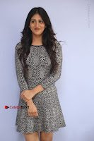 Actress Chandini Chowdary Pos in Short Dress at Howrah Bridge Movie Press Meet  0012.JPG