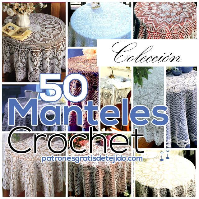 50 Patrones de Manteles Crochet  Coleccin  Crochet y