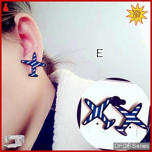 OFDF325 Aksesoris Ear Rings Korean Aeroplane E BMGShop