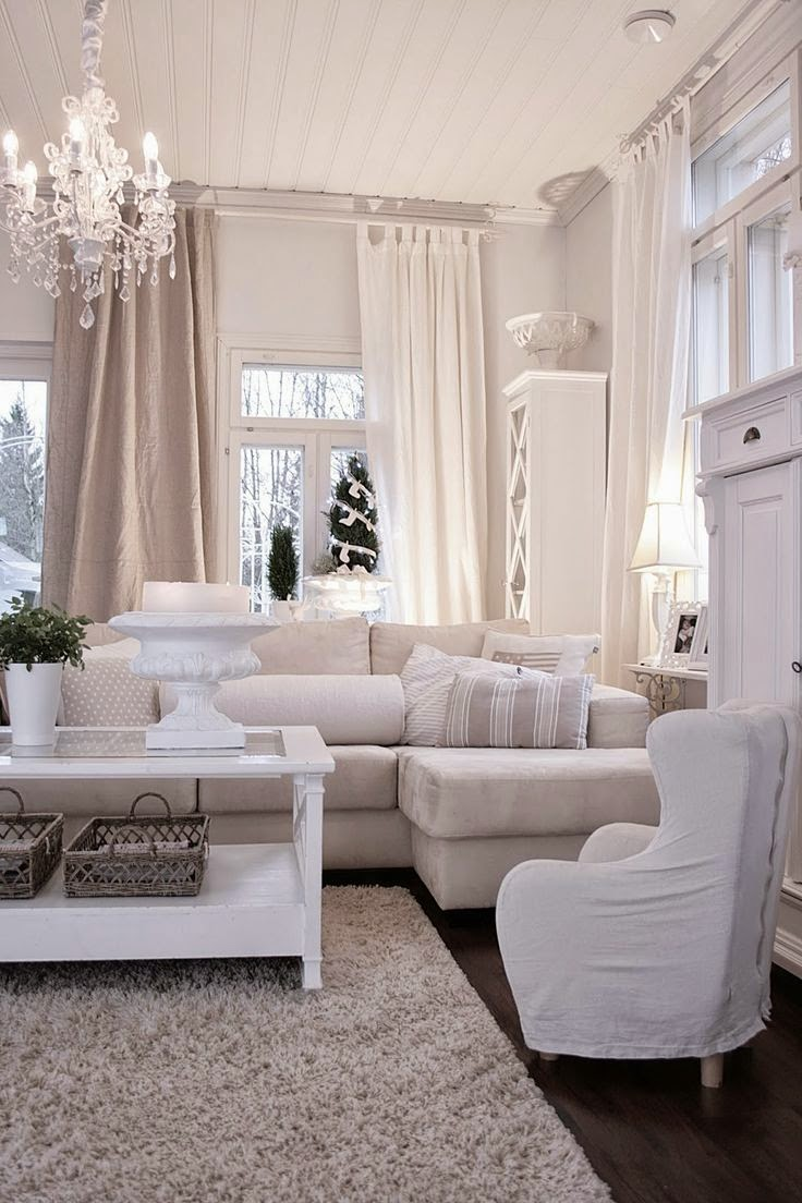 9 fotos de decoraci n de salas en blanco for Decoracion salones 2016