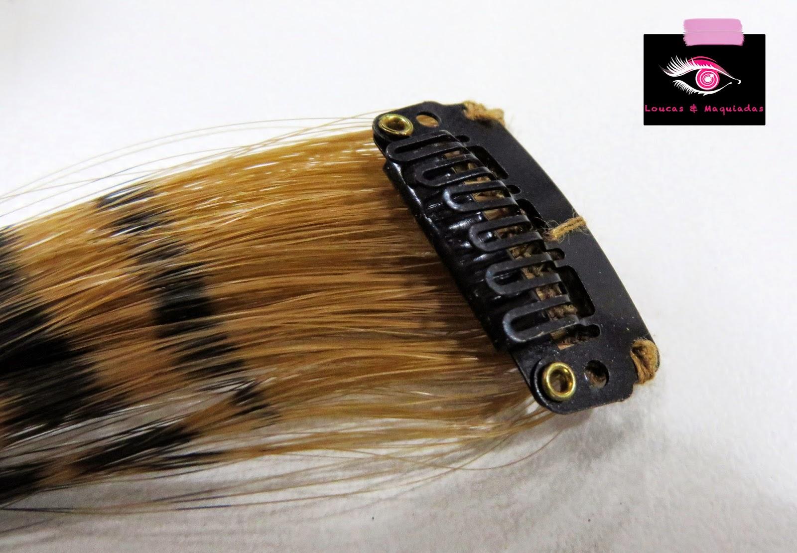 cf17a3f4c3b6e Cada aplique tem 40 cm e aceita calor de até 180º, assim, quem gosta de  modelar os cabelos, pode modelar o aplique para seguir a estrutura dos seus  fios ...