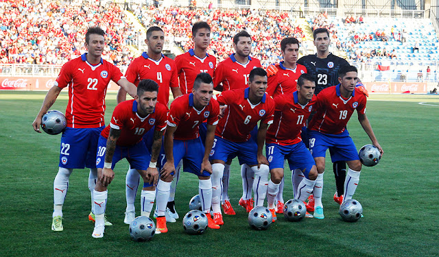 Formación de Chile ante Estados Unidos, amistoso disputado el 28 de enero de 2015
