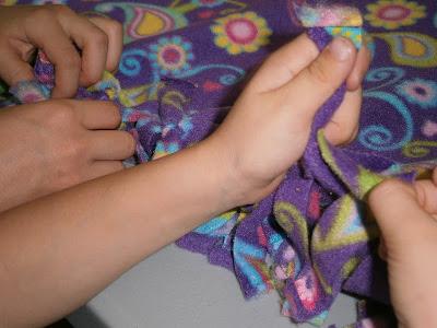making tie blankets