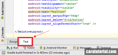 Text mode Android Studio