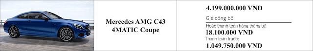 Giá xe Mercedes AMG C43 4MATIC Coupe 2019 tại Mercedes Trường Chinh