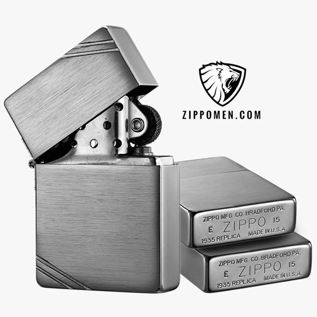 Zippo 1935 chặt góc MS 1935 | Zippo Cổ | Zippo Độc