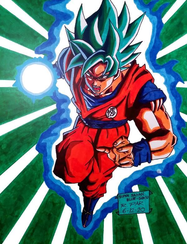 Goku, the Super Saiyan God Super Saiyan from the film DRAGON BALL Z: RESURRECTION 'F'.