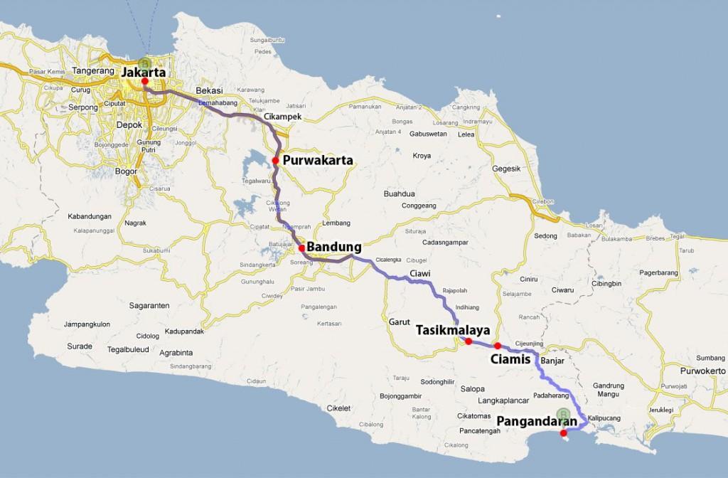 Informasi Rute Jalan Dari Jakarta ke Green Canyon Pangandaran