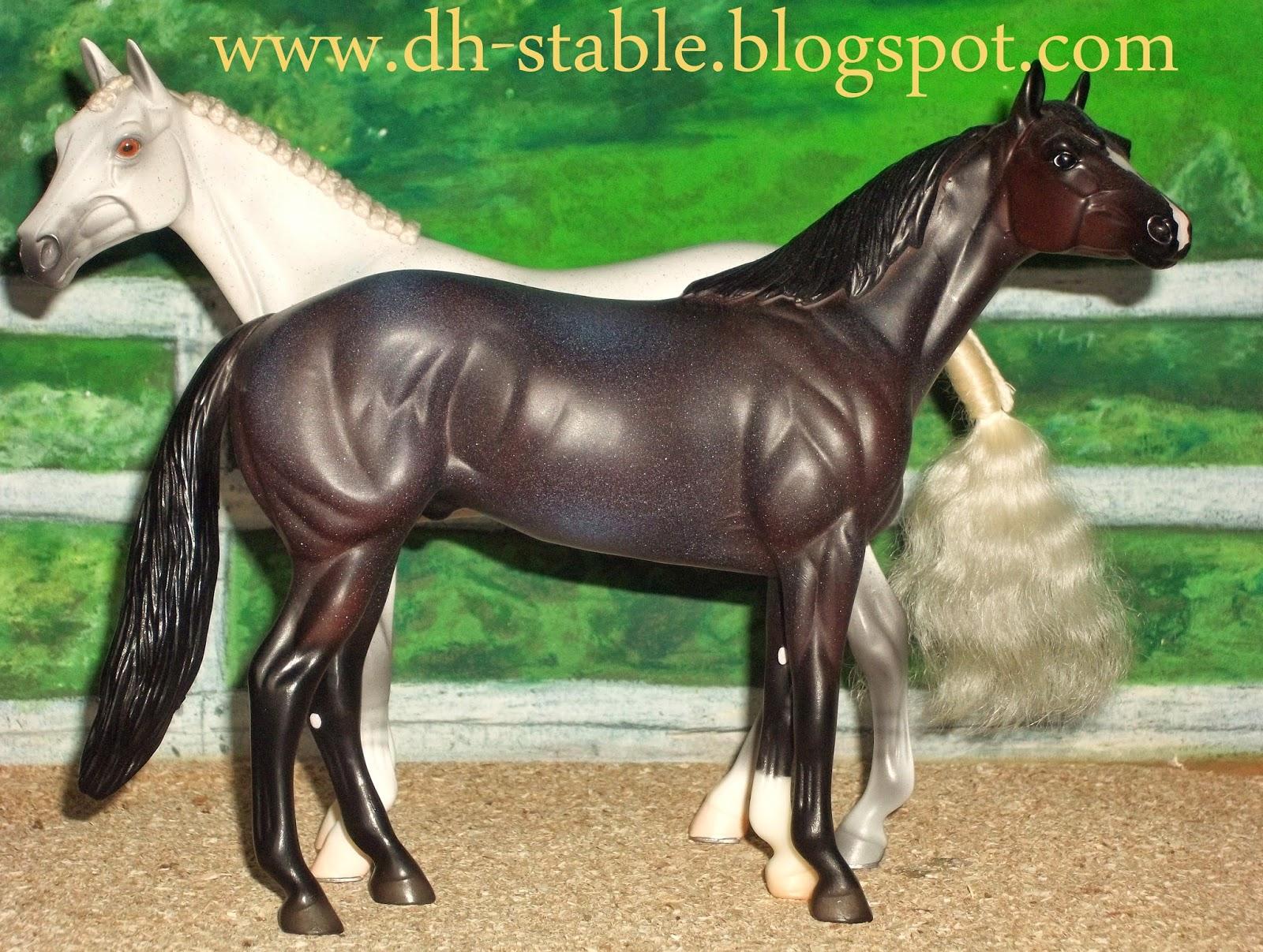 Dark bay american quarter horse