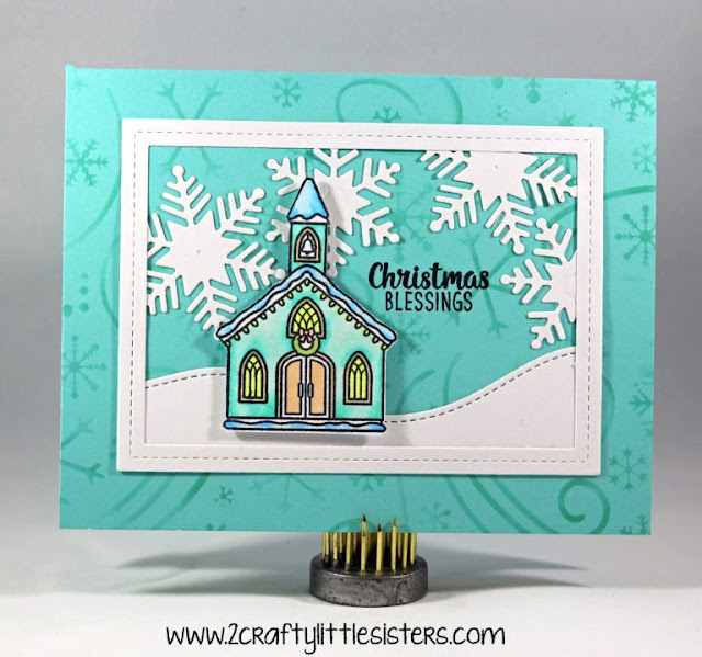 Sunny Studio Stamps: Christmas Chapel Customer Card Share by Cindy Lambert