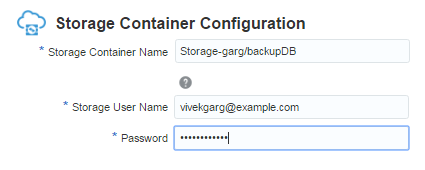 Oracle SOA Cloud Service Storage Container