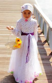 Model baju muslim anak perempuan modis untuk lebaran