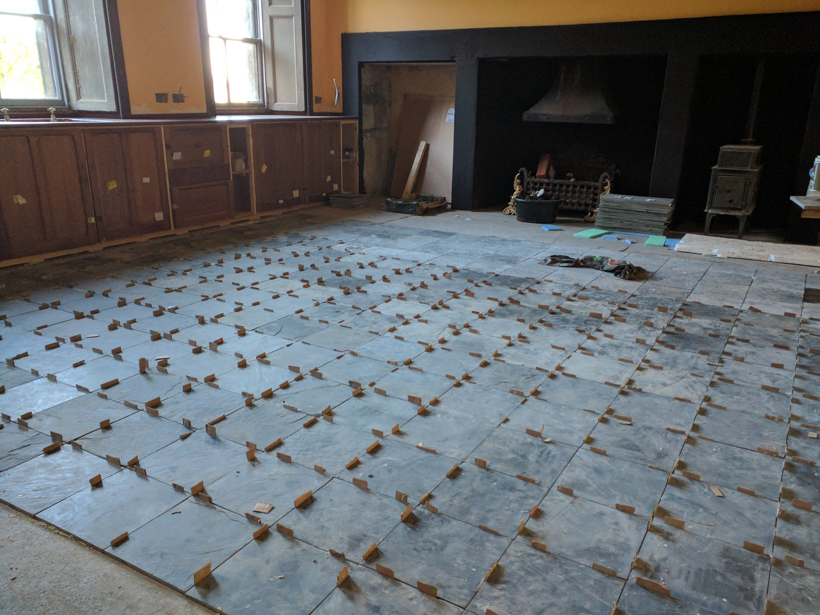 Balintore Castle Restoration Project: Easter Tiling