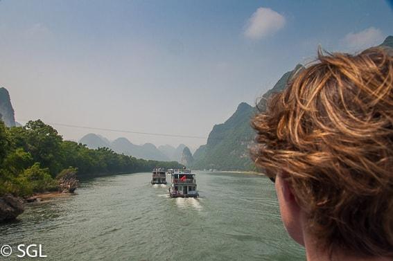 Paisajes de China. Crucero por el rio Li. Guilin