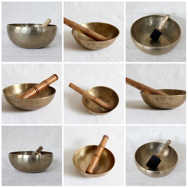 Kronbali selected singing bowls from Ladakh