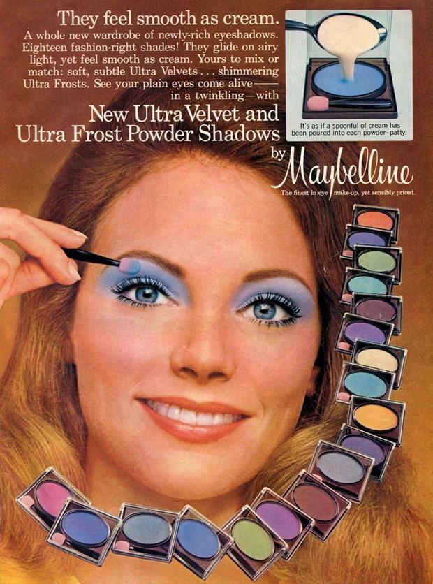 Anúncios vintage de maquiagem, anúncios vintage, publicidade vintage, vintage, vintage makeup ad, vintage ad, história da maquiagem, maquiagem no decorrer das décadas, anúncios de maquiagem dos anos 70