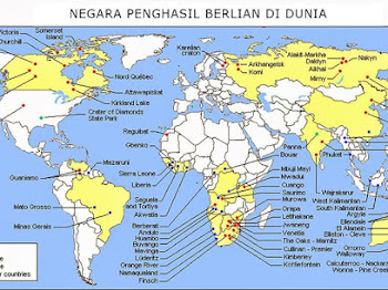 Daftar Negara Penghasil Berlian Warna di Dunia