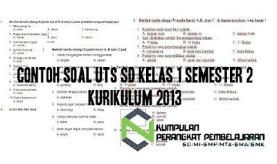 Contoh Soal UTS SD Kelas 1 semester 2 Kurikulum 2013