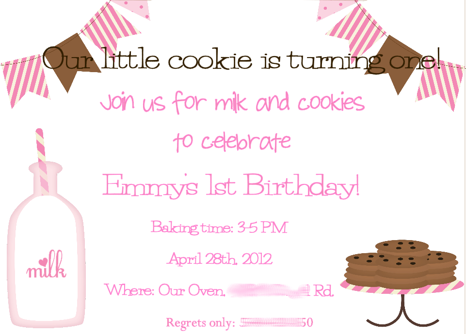 Milk and Cookies Invitations