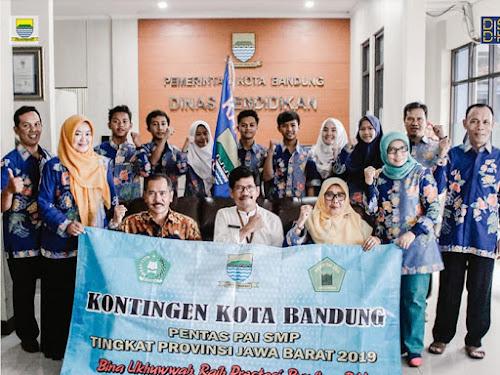 Peserta Lomba PAI Jabar 2019 dari SMP Kota Bandung