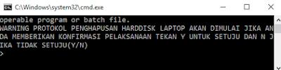 Tampilan Program Pengunci Folder Windows Batch
