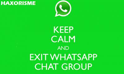 cara keluar grup whatsapp