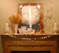 Если у вас есть камин: интересные идеи для осеннего декора.