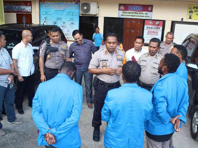 Polres Jayapura Kota Sikapi Ospek Bintang Kejora di Stikom Muhammadiyah