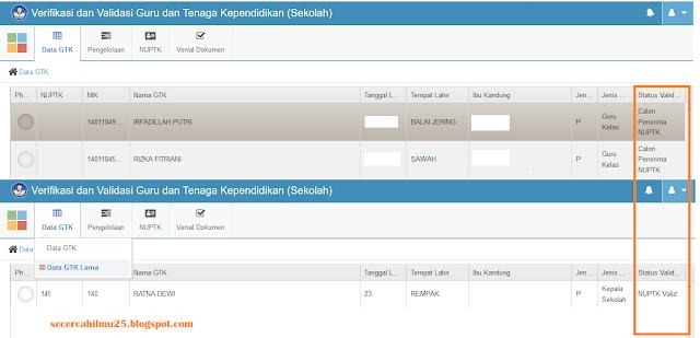 Solusi Jumlah GTK di Vervalptk Tidak Sama dengan Dapodik Online/Offline