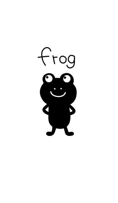 Black frog and white