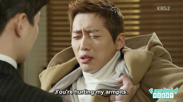 chief kim ask director seo yeol to leave his coat he's hurting the armpits