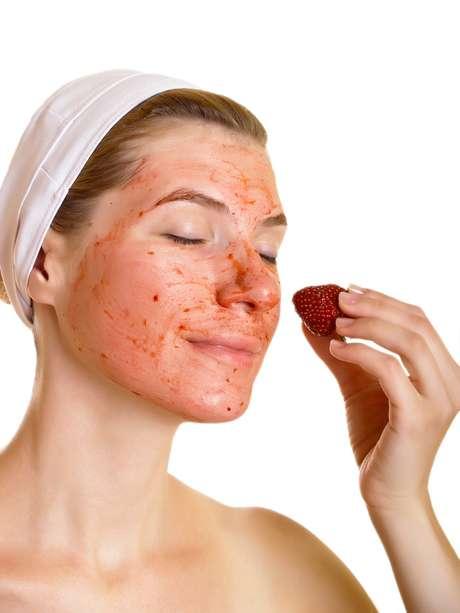 Strawberry face mask: