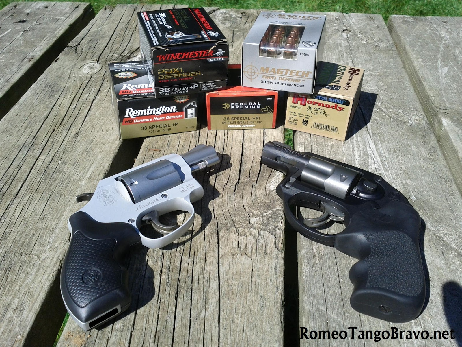 .38 Special Ammunition Recoil Comparison :: Ruger LCR and S&W 637