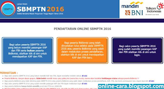 cara login website sbmptn
