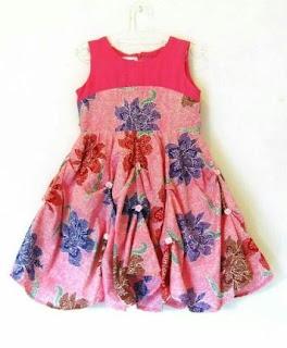 Batik anak perempuan motif bunga
