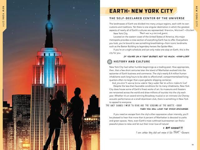 Nueva York en la guía Marvel Cosmos