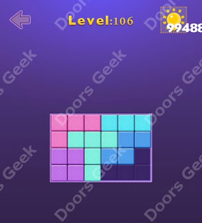 Cheats, Solutions, Walkthrough for Move Blocks Easy Level 106
