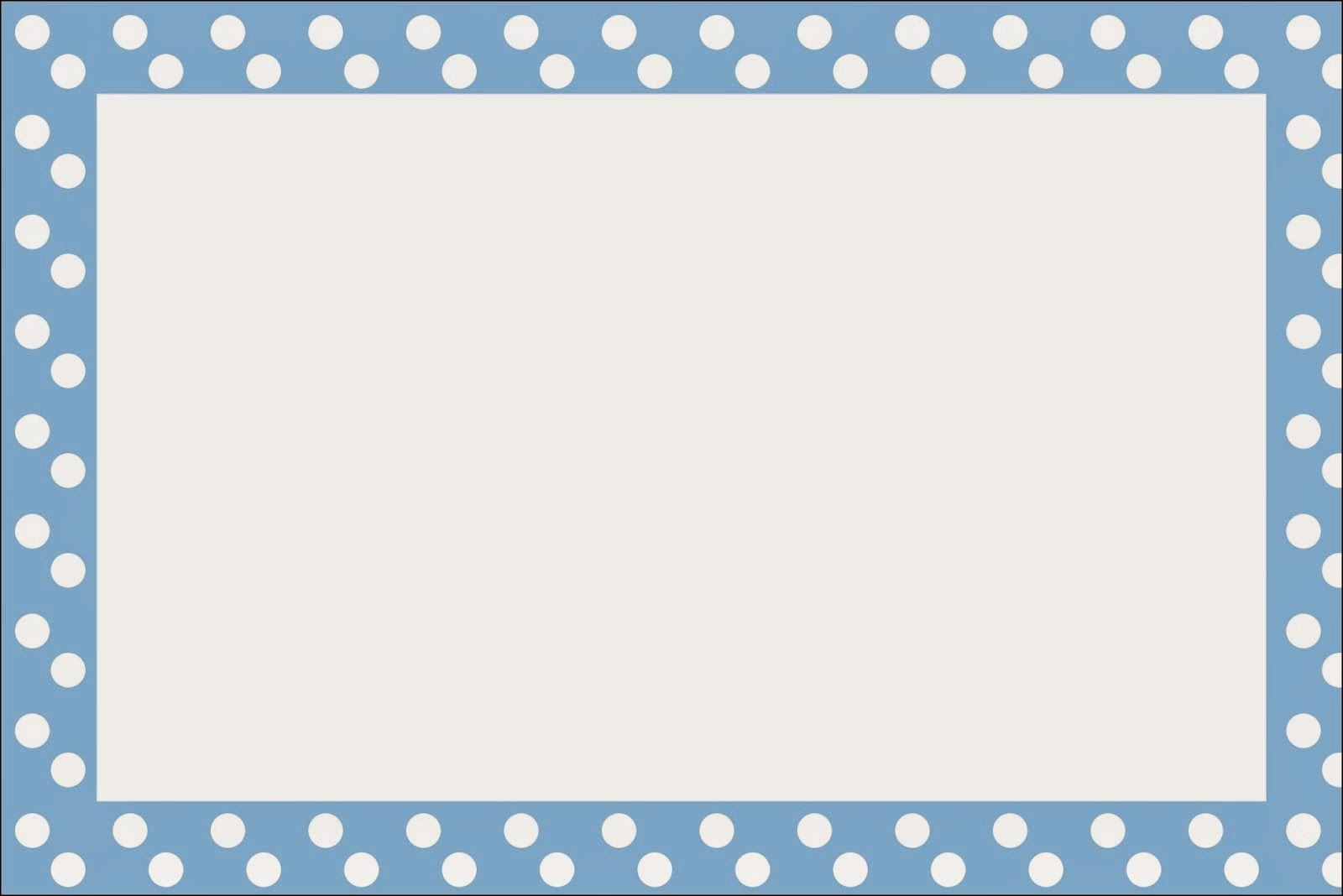 Light Blue with White Polka Dots Free Printable Invitations, Labels or Cards.