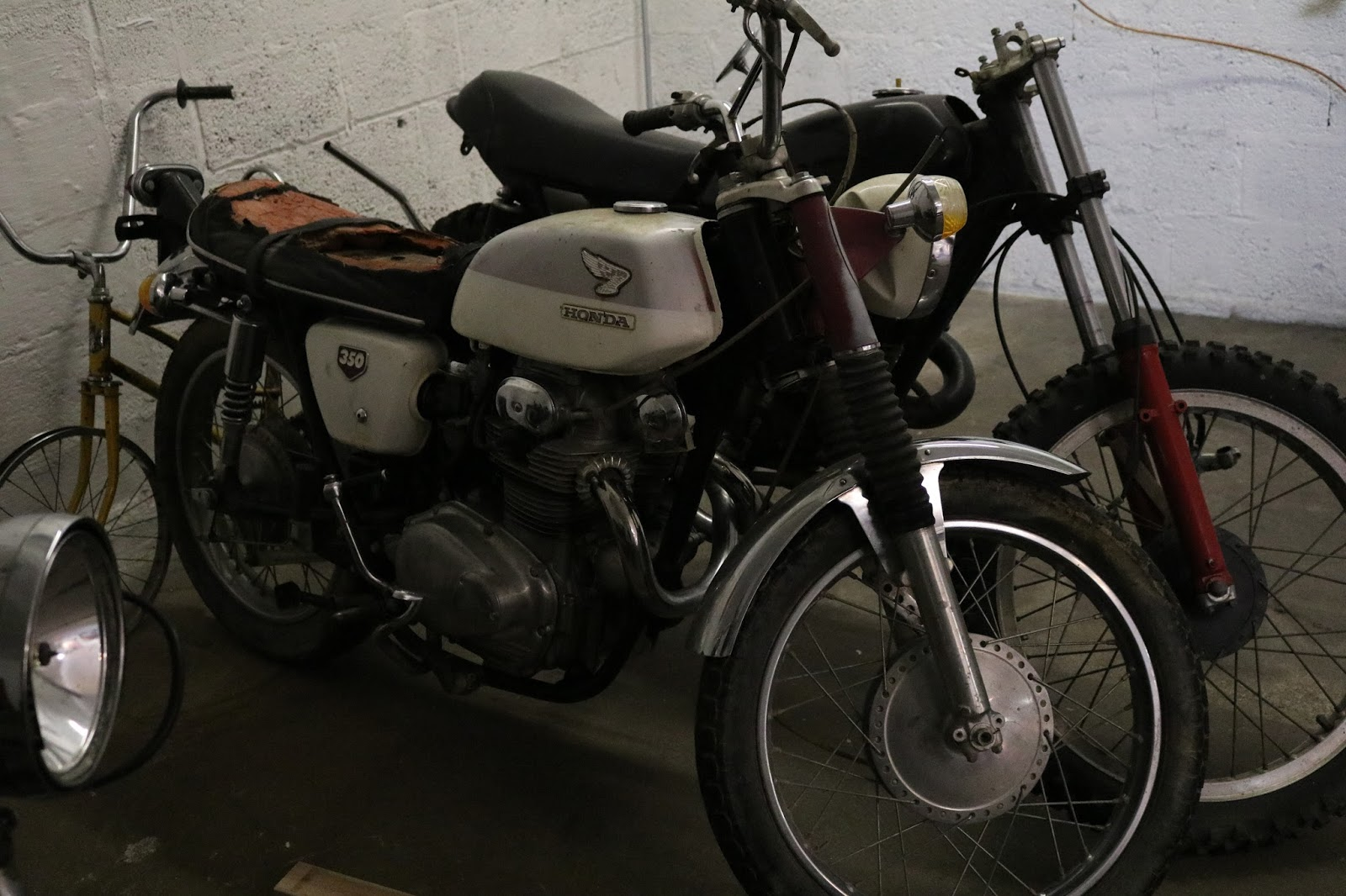Oldmotodude 1969 Honda Cl350 Project Spotted In A Garage 1970 75cc Motorcycle Southern Colorado