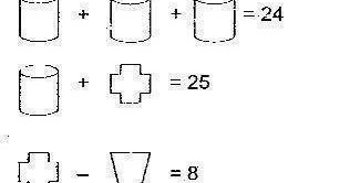 Puzzle Solutions Answers: Math Equation Picture Problem