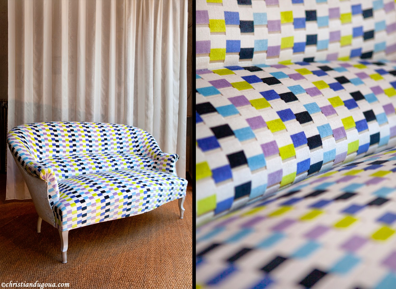 canape crapaud 2 places. Black Bedroom Furniture Sets. Home Design Ideas