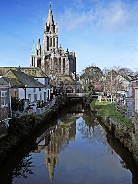 Truro Cathedral by the river